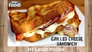 Ninja Foodi Grill   BEST Grilled Cheese Sandwich w/ Ham, Turkey & Bacon   Cook 1lb of Bacon   #215