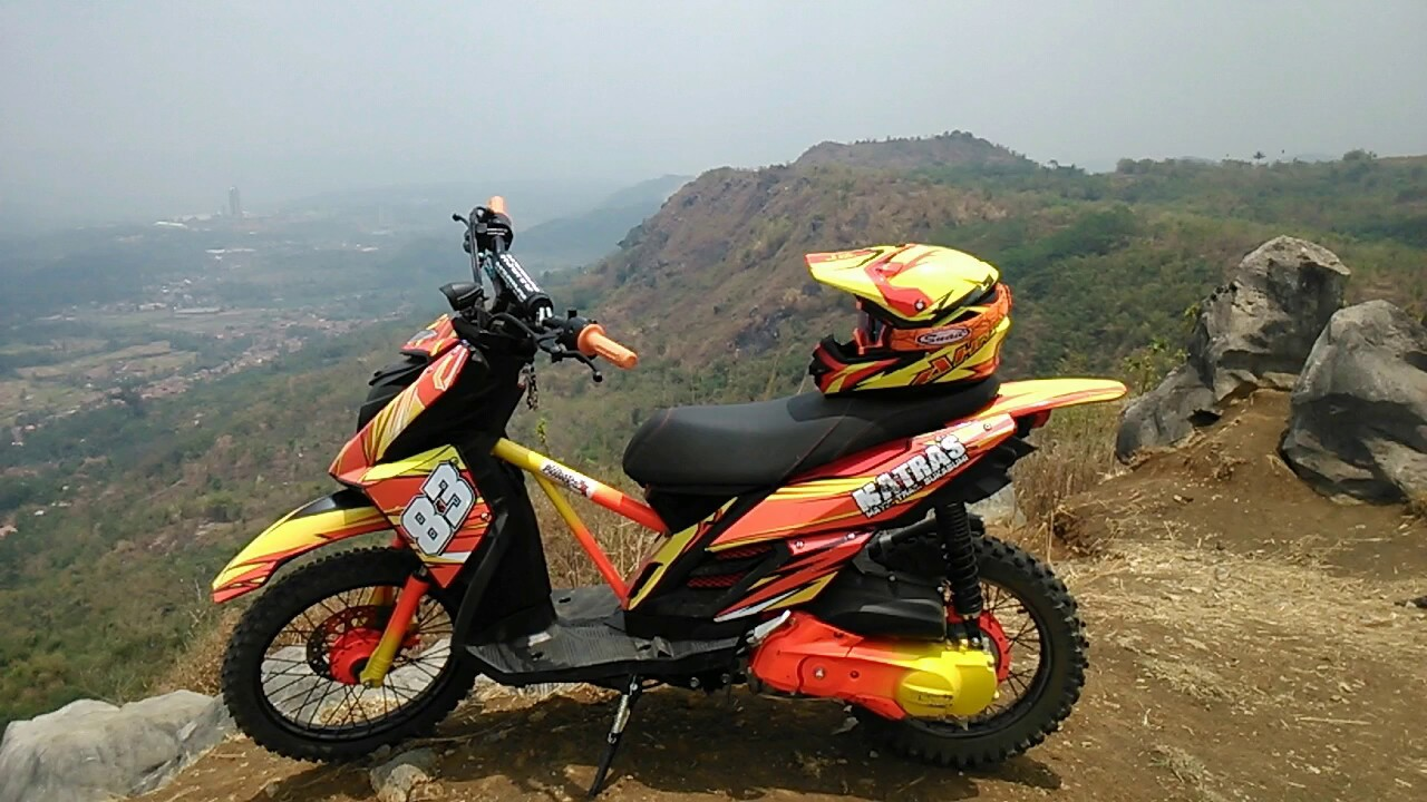 Download Koleksi 82 Modifikasi Motor Matic Jadi Trail Terkeren