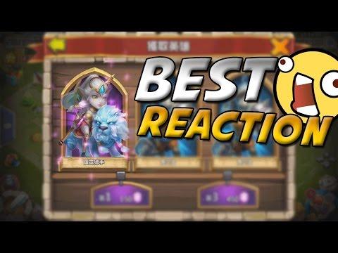 Castle Clash Best Reaction When Rolling Lady Leo!