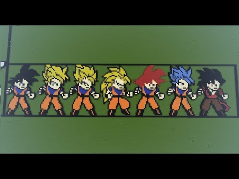 Dragon Ball Z Goku All Forms Pixel Art Youtube