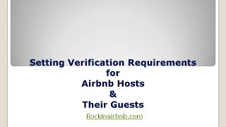 Gambar cover Airbnb Verification Requirements Host Series