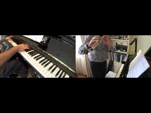 'Cat Bus', (Nekobasu), from 'My Neighbor Totoro', Flute & Piano Duet