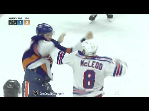 Cody McLeod vs Scott Mayfield Sep 22, 2018