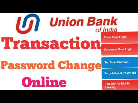 Union bank internet banking transaction password change , Hindi