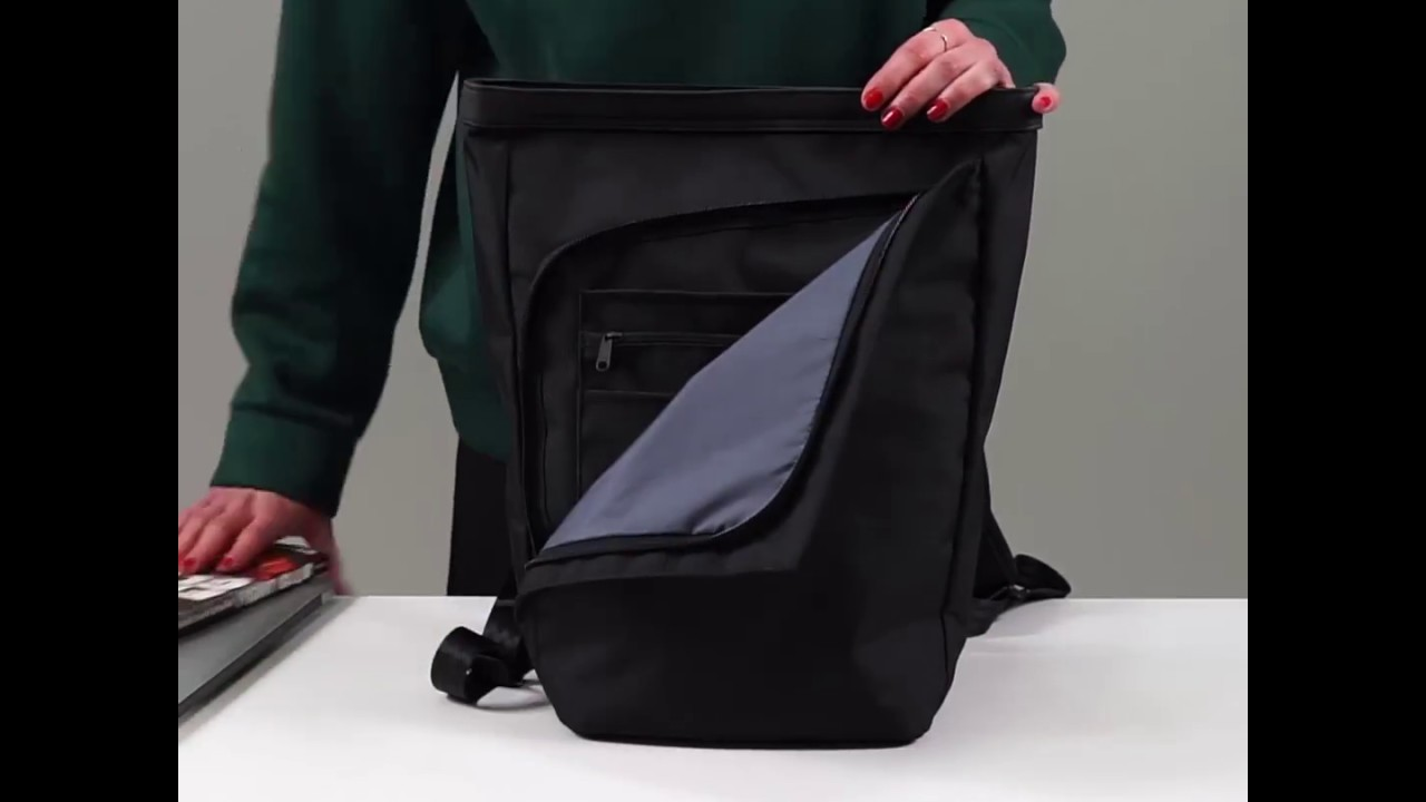Invisible Backpack MINI - 13 laptop backpack - black - YouTube 31a91f3909f2d