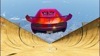 GTA 5 MEGA RAMP Longest Jump Compilation #4 (Grand Theft Auto V Mods Gameplay Moments)