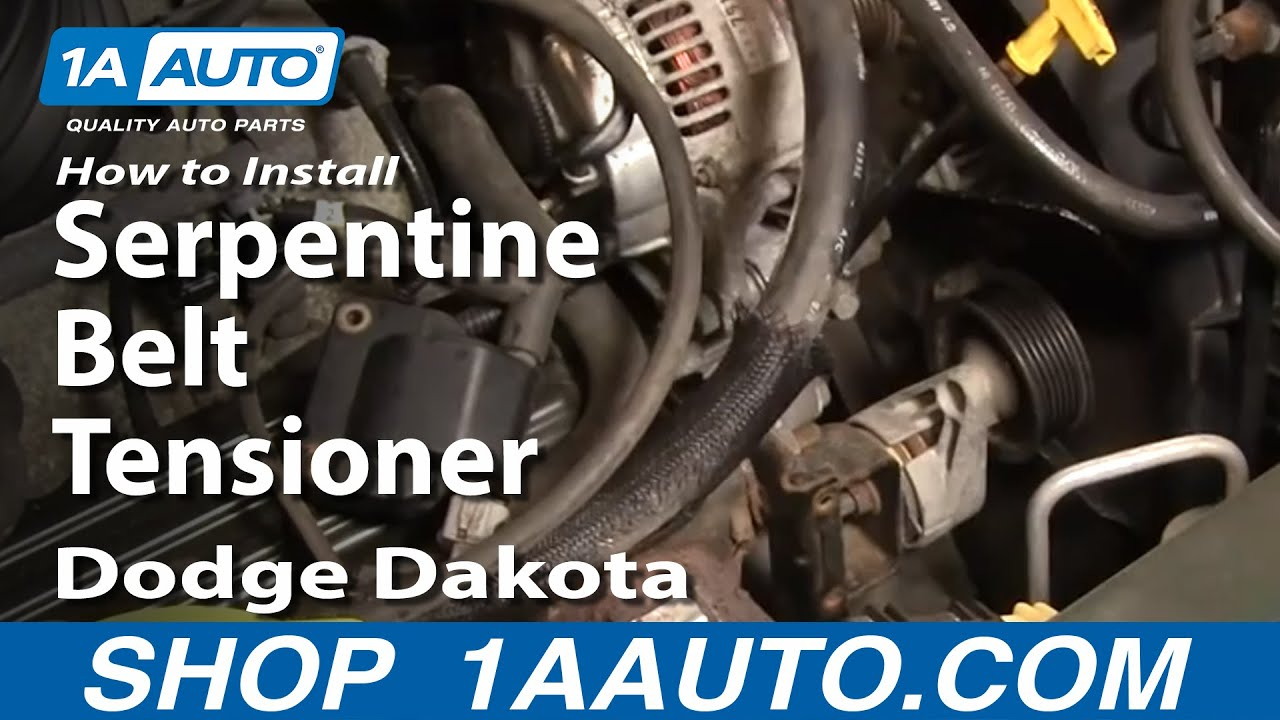 How To Install Replace Serpentine Belt Tensioner Dodge Dakota – Dodge 3.9 Engine Diagram