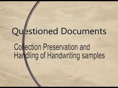 Questioned Document (Hand Writing Examination) (CH-06)