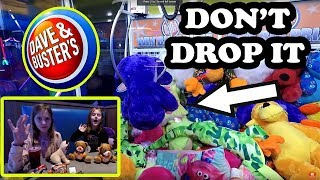 Dave and Busters Family Friendly Arcade Video! Big Claw Machine, Whack N Win, Black Hole Jackpots!