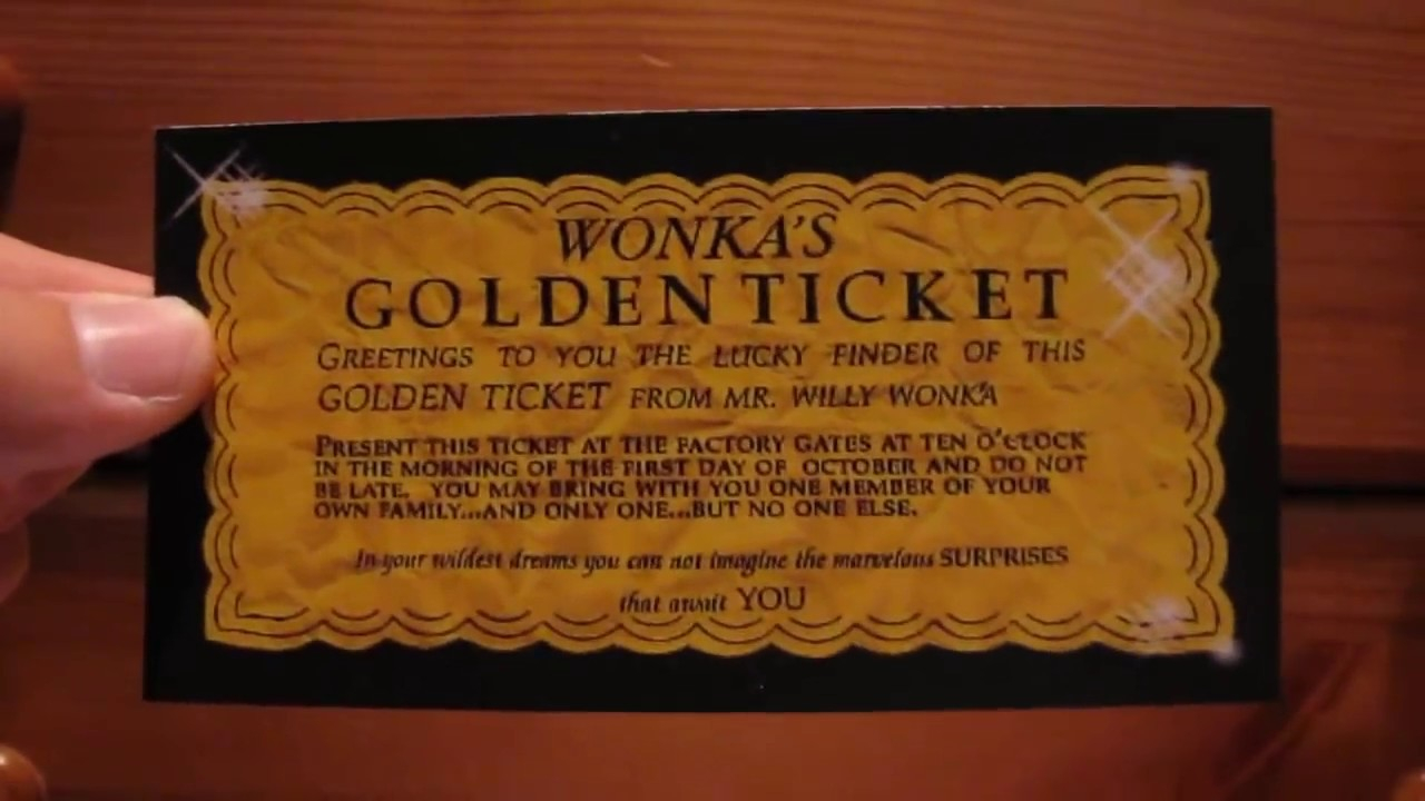 Willy Wonka Chocolate Golden Ticket Youtube