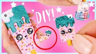 DIY MINI iPhone! - Miniature Popsicle Case Phone!!   KAWAII FRIDAY