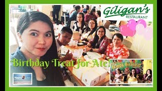 B-DAY TREAT FOR ATE AT GILIGAN'S RESTAURANT| Simply Mhyles 😊💕|| Sunday's Best with Family