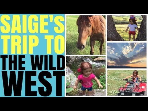 American Girl Doll Saige's Trip To The Wild West