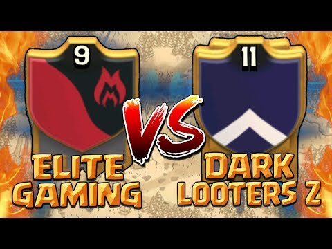 ELITE GAMING vs DARK LOOTERS Z - Clash of Clans War! Best TH10 & TH9 3 Star Attack Strategies 2017!