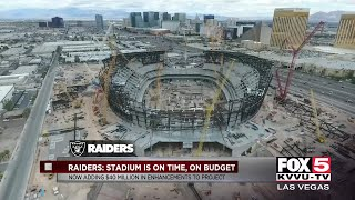 Las Vegas stadium stays on schedule and budget