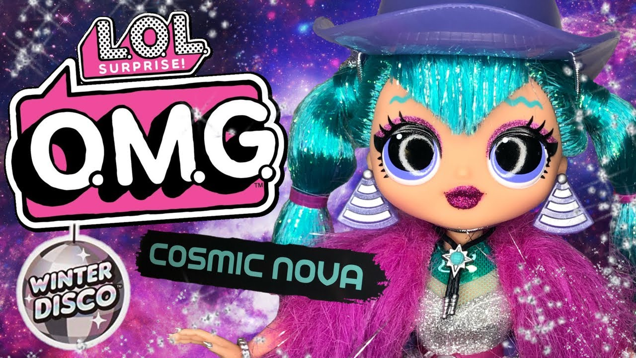 O.M.G LOL Surprise Winter Disco Cosmic Nova Fashion Doll /& Sister