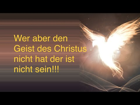 Wer aber den Geist des Christus nicht hat der ist nicht sein - Sven Fricke