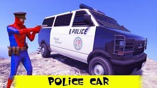 #Spiderman #Cartoon #Police car #Truck #Cars #Nursery #Rhymes #Kids #Songs