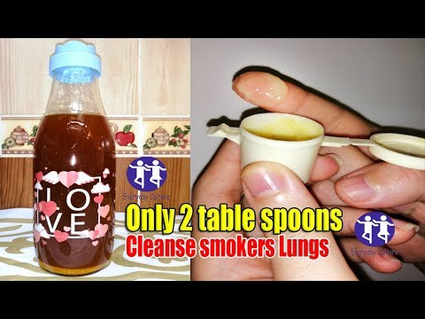 say Good bye to fake remedy, Only 2 table spoons of this homemade detox , Drink to cleanse smokers L