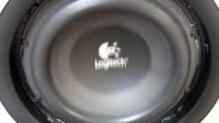Logitech Z2300 THX subwoofer excursion(fleat beat - mr oizo)
