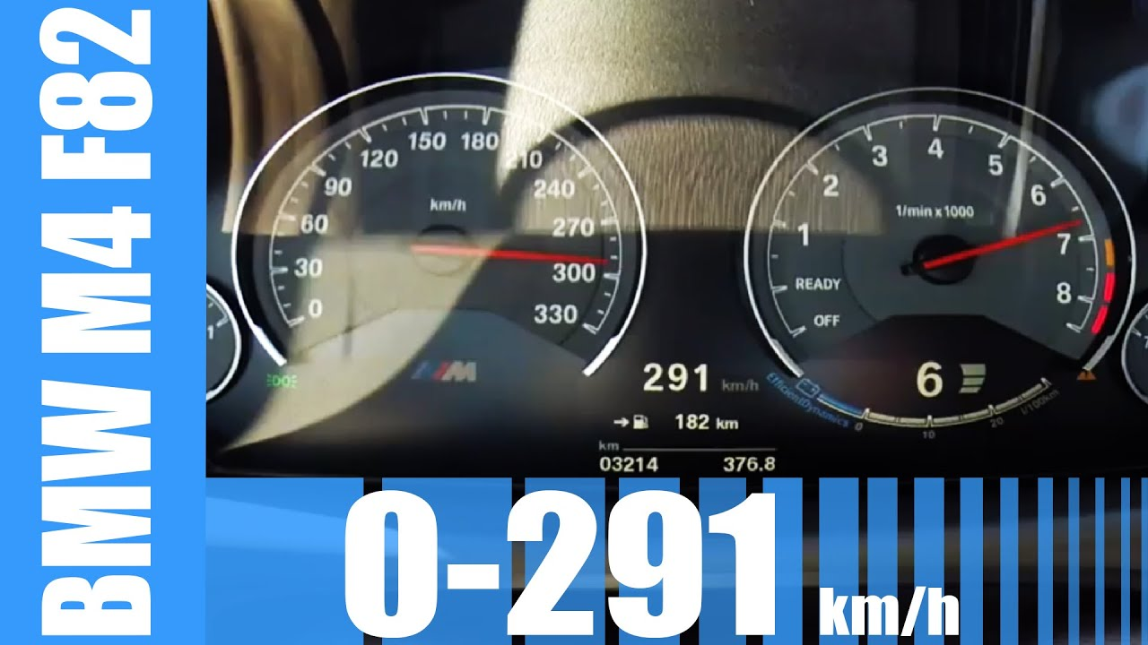 Bmw I8 Top Speed >> BMW M4 F82 Acceleration AMAZING! 0-291 km/h LAUNCH CONTROL ...