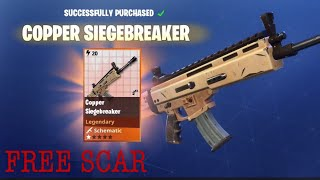 HOW TO GET THE SIEGEBREAKER ( LEGENDARY SCAR) IN FORTNITE SAVE THE WORLD