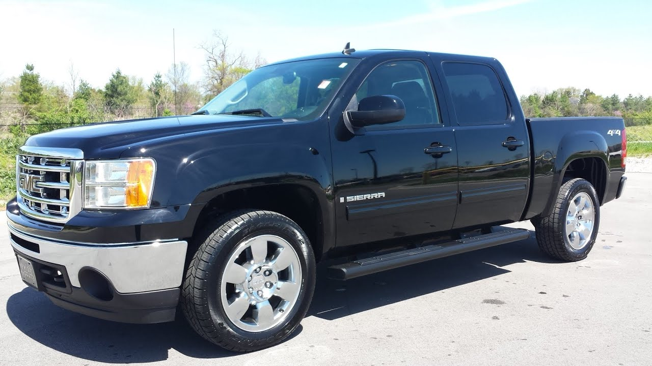 Sold 2009 Gmc Sierra 1500 Slt Crew Cab 4x4 Black 39k Gm Certified Call 855 507 8520