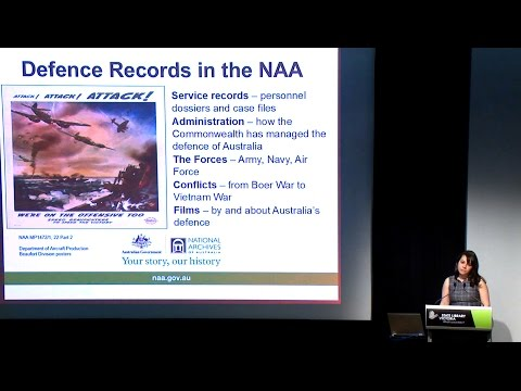 Grace Baliviera on WWI records in the National Archives of A
