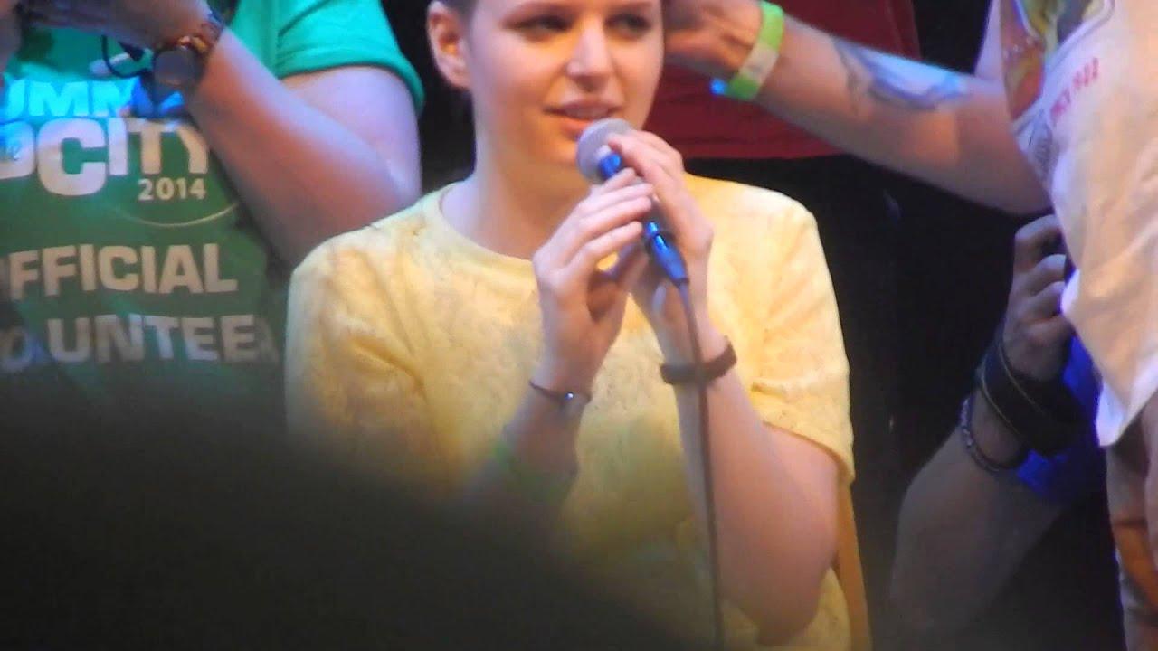 Emma head shaved