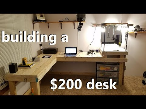 Building a SICK desk out of 2x4's | Vlog_2