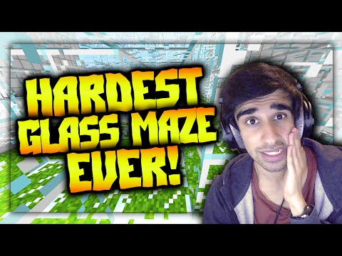 HARDEST GLASS MAZE EVER?! - Minecraft 28 MAZES Part 1