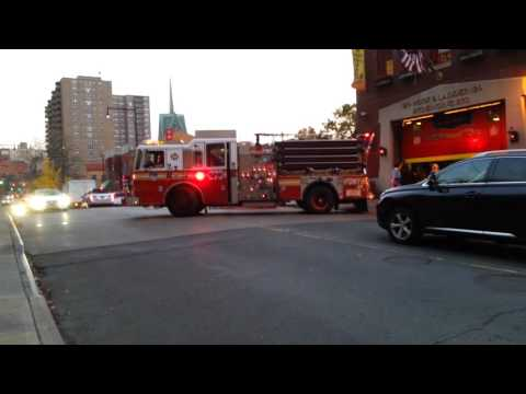 FDNY engine 273 responding  from quarters