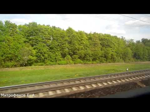 Павелецкий ход. Видео из окна скорого поезда № 137Ж, Москва - Саратов.