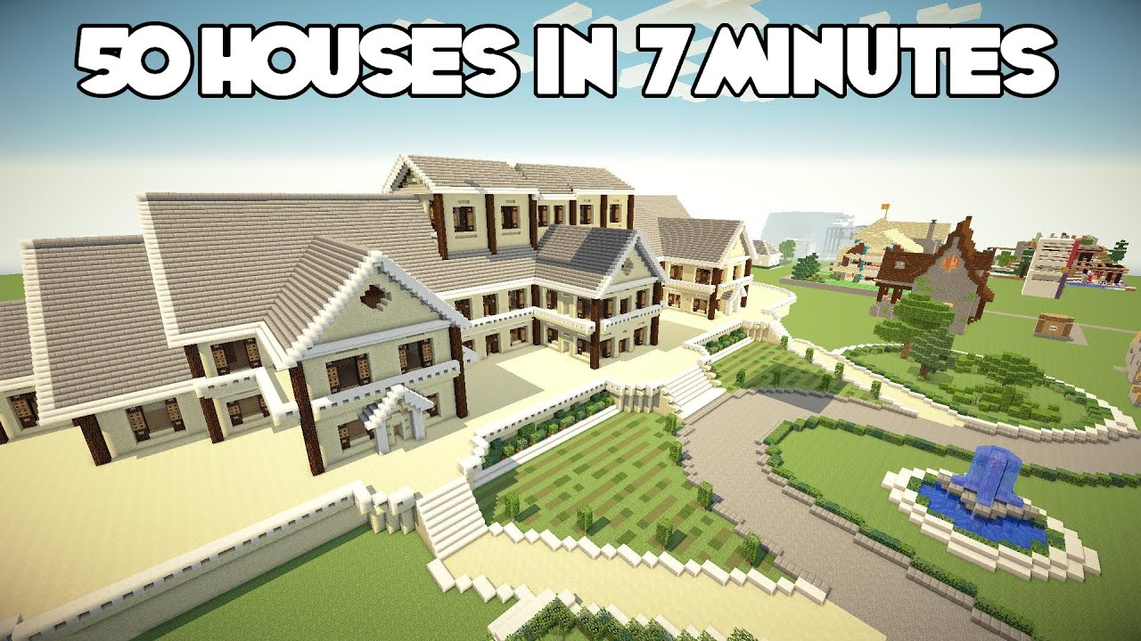 50 minecraft houses in 8 minutes