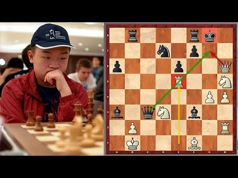 Wei Yi Unleashes A Brutal Attack Against Sicilian Defense