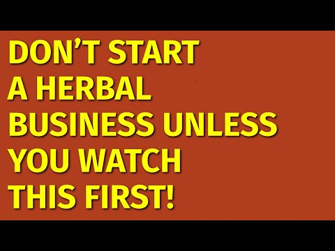 How to Start a Herbal Business | Including Free Herbal Business Plan Template