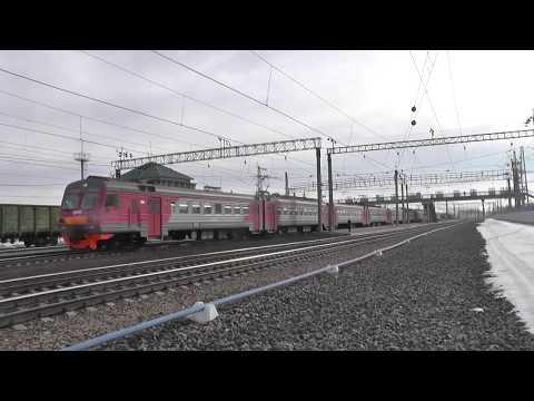 Электропоезд ЭД4М-0330 сообщением Новосибирск-Главный - Каргат