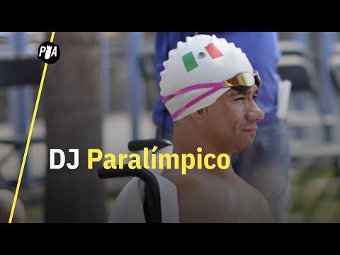 Nadar y ser DJ con una sola pierna