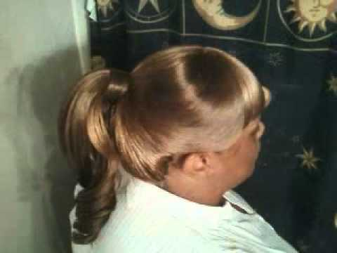 High Ponytail With Weave