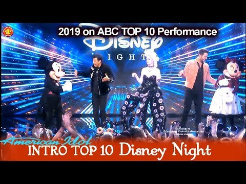 Intro & Katy Perry As Ursula Behind The Scenes Disneyland | American Idol 2019 Top 10 Disney Night