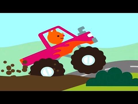 เกมส์ ขับรถบัส รถดับเพลิง รถบรรทุก รถบิ๊กฟุต เที่ยว - Sago mini road tip