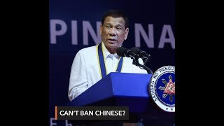 Duterte says he can't ban Chinese from fishing in PH waters
