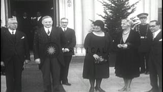 United States President Herbert Hoover welcomes the Mexican President-elect Pascu...HD Stock Footage