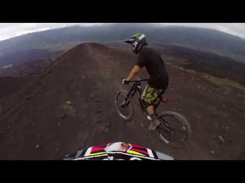 RIDING MTB DOWN A VOLCANO IN BALI