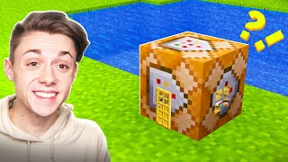 Building a Minecraft House INSIDE a COMMAND BLOCK!