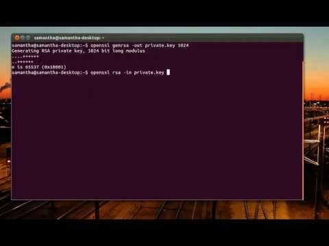 public and private key generation in linux