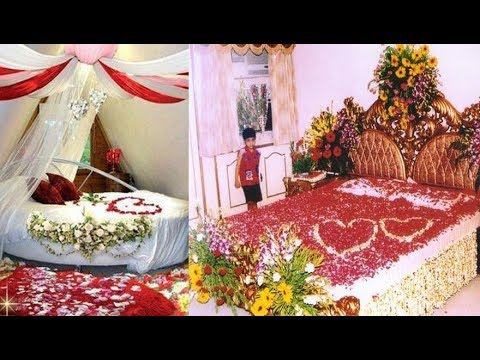 30 lovely marriage night room decoration romantic and classic 30 lovely marriage night room decoration romantic and classic wedding bed designing ideas part 3 junglespirit Choice Image