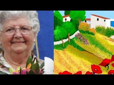 Concha, la abuelita de 87 años que hace ilustraciones en Paint