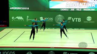 Argentina (ARG) - 2018 Aerobic Worlds, Guimaraes (POR) - Group Qualifications