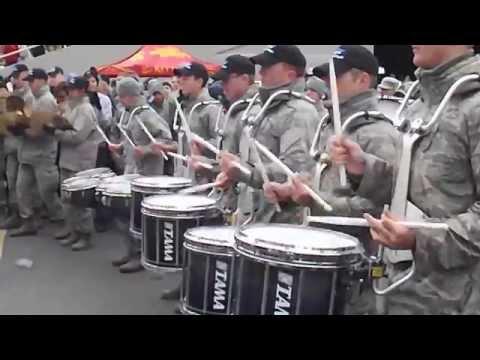 Army vs. Air Force Drum Line Battle (Part 1)